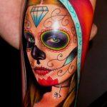 tatuaje catrina color tattoo 5 150x150