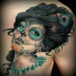 tatuaje catrina color tattoo 6 150x150