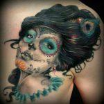 tatuaje catrina color tattoo 6 150x150