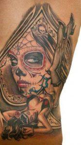 tatuaje catrina color tattoo 7 167x300