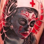 tatuaje catrina color tattoo 8 150x150