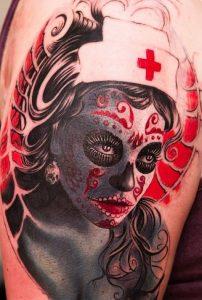 tatuaje catrina color tattoo 8 202x300