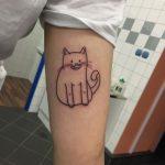tatuaje de silueta gato felinos mascotas 23 150x150