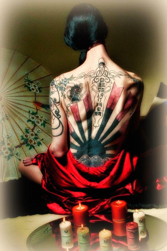 tatuaje sol japones 2 - tatuajes del sol