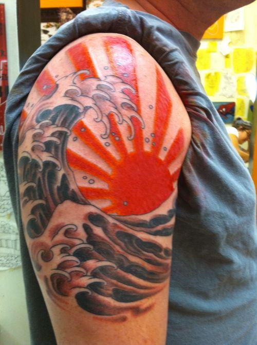 tatuaje sol japones 3 - tatuajes del sol