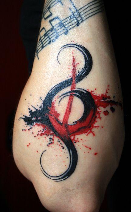 tatuaje sol nota musical 2 - tatuajes del sol