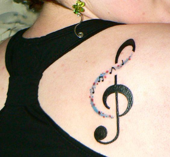 tatuaje sol nota musical 3 - tatuajes del sol