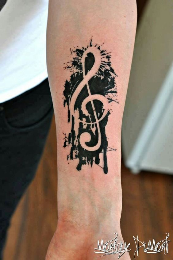 tatuaje sol nota musical 5 - tatuajes del sol