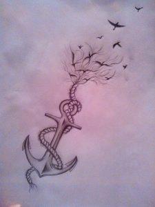 tatuajes anclas imagenes bocetos 5 225x300