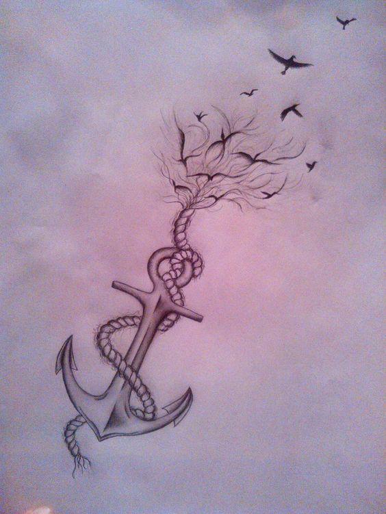 tatuajes anclas imagenes bocetos 5 - tatuajes de anclas