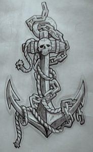 tatuajes anclas imagenes bocetos 6 184x300