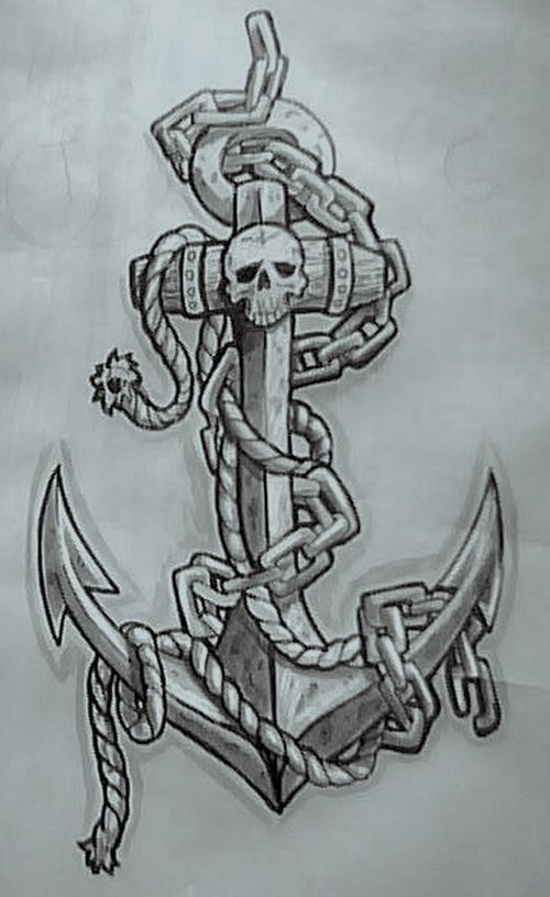 tatuajes anclas imagenes bocetos 6 - tatuajes de anclas