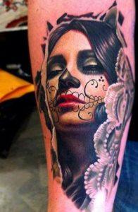 tatuajes catrinas brazo tattoo 2 196x300