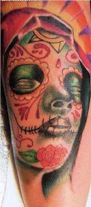 tatuajes catrinas brazo tattoo 4 133x300