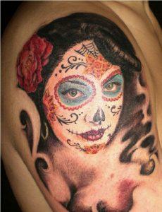 tatuajes catrinas brazo tattoo 5 230x300