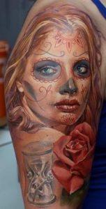 tatuajes catrinas brazo tattoo 8 152x300