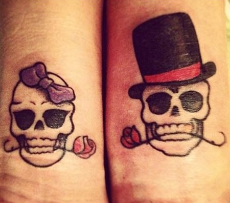 tatuajes catrinas pareja tattoo 1 - calaveras mexicanas