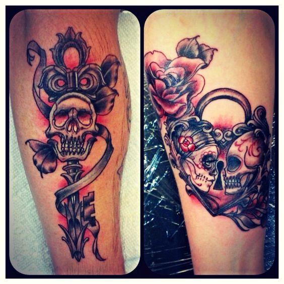tatuajes catrinas pareja tattoo 3 - calaveras mexicanas