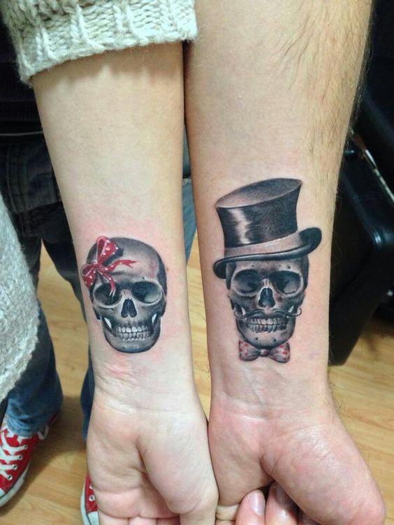 tatuajes catrinas pareja tattoo 6 - calaveras mexicanas