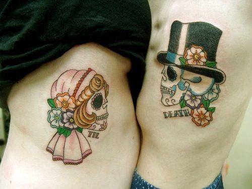 tatuajes catrinas pareja tattoo 8 - calaveras mexicanas
