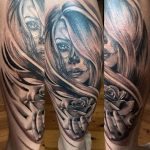 tatuajes catrinas pierna tattoo 1 150x150