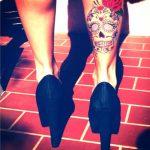 tatuajes catrinas pierna tattoo 10 150x150