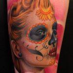 tatuajes catrinas pierna tattoo 2 150x150