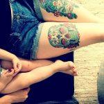 tatuajes catrinas pierna tattoo 4 150x150