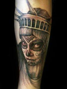tatuajes catrinas pierna tattoo 5 225x300