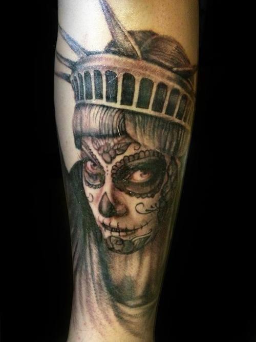 tatuajes catrinas pierna tattoo 5 - tatuajes de catrinas