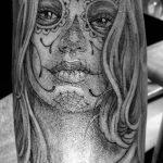 tatuajes catrinas pierna tattoo 6 150x150