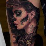 tatuajes catrinas pierna tattoo 9 150x150