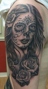 tatuajes catrinas rosas tattoo 1 163x300
