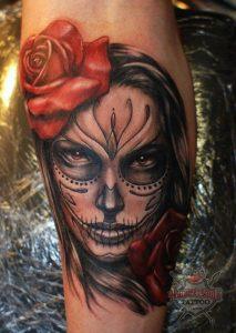 tatuajes catrinas rosas tattoo 4 213x300