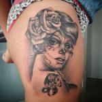 tatuajes catrinas rosas tattoo 5 150x150