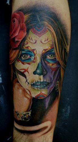 tatuajes catrinas rosas tattoo 7 - tatuajes de catrinas