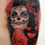 tatuajes catrinas rosas tattoo 8 150x150