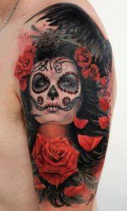 tatuajes catrinas rosas tattoo 8 181x300