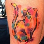 tatuajes de gatos acuarela nueva escuela 1 150x150