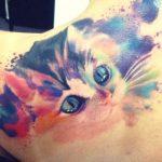 tatuajes de gatos acuarela nueva escuela 9 150x150