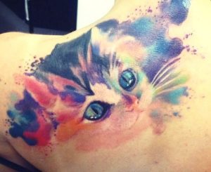 tatuajes de gatos acuarela nueva escuela 9 300x245