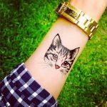 tatuajes de gatos en la muñeca gatitos 3 150x150