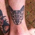 tatuajes de gatos para hombres felinos 11 150x150