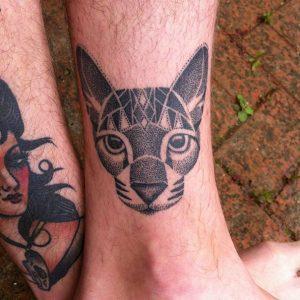 tatuajes de gatos para hombres felinos 11 300x300
