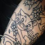 tatuajes de gatos para hombres felinos 19 150x150