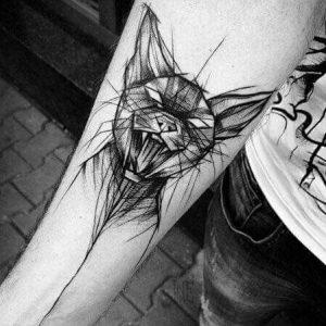 tatuajes de gatos para hombres felinos 26 300x300