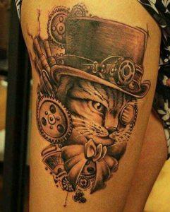 tatuajes de gatos para hombres felinos 3 241x300
