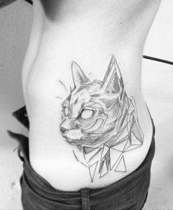 tatuajes de gatos para hombres felinos 6 247x300