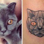 tatuajes de gatos para hombres felinos 9 150x150
