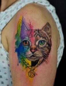 tatuajes de gatos para mujeres mascotas 21 231x300